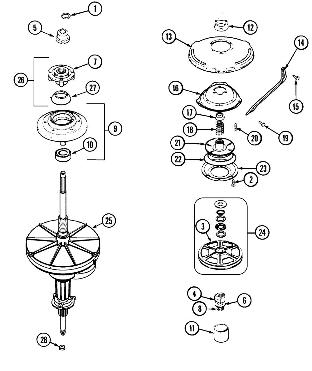medium resolution of maytag pav2200aww transmission diagram