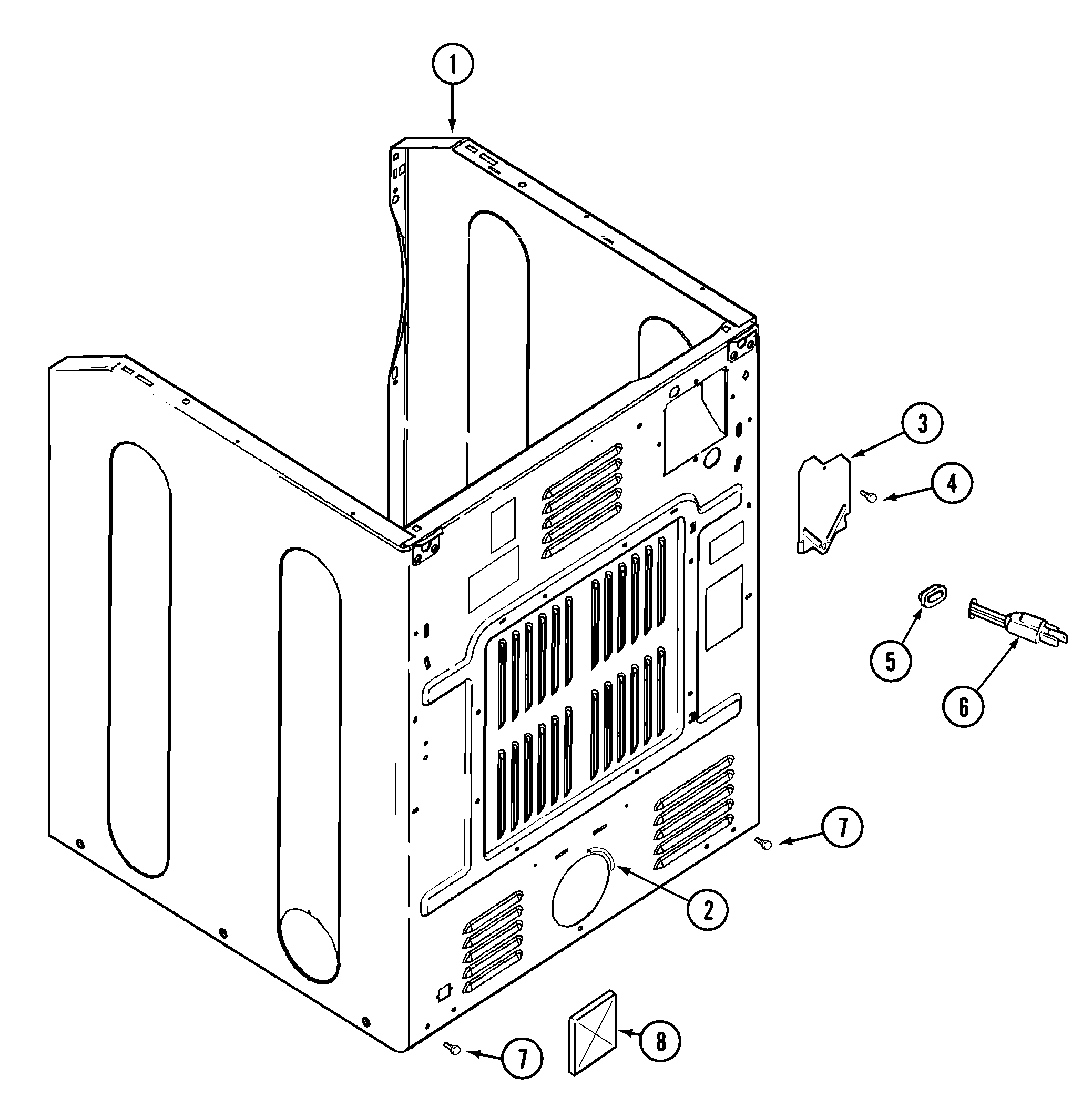 hight resolution of maytag mdg5500awq cabinet rear diagram