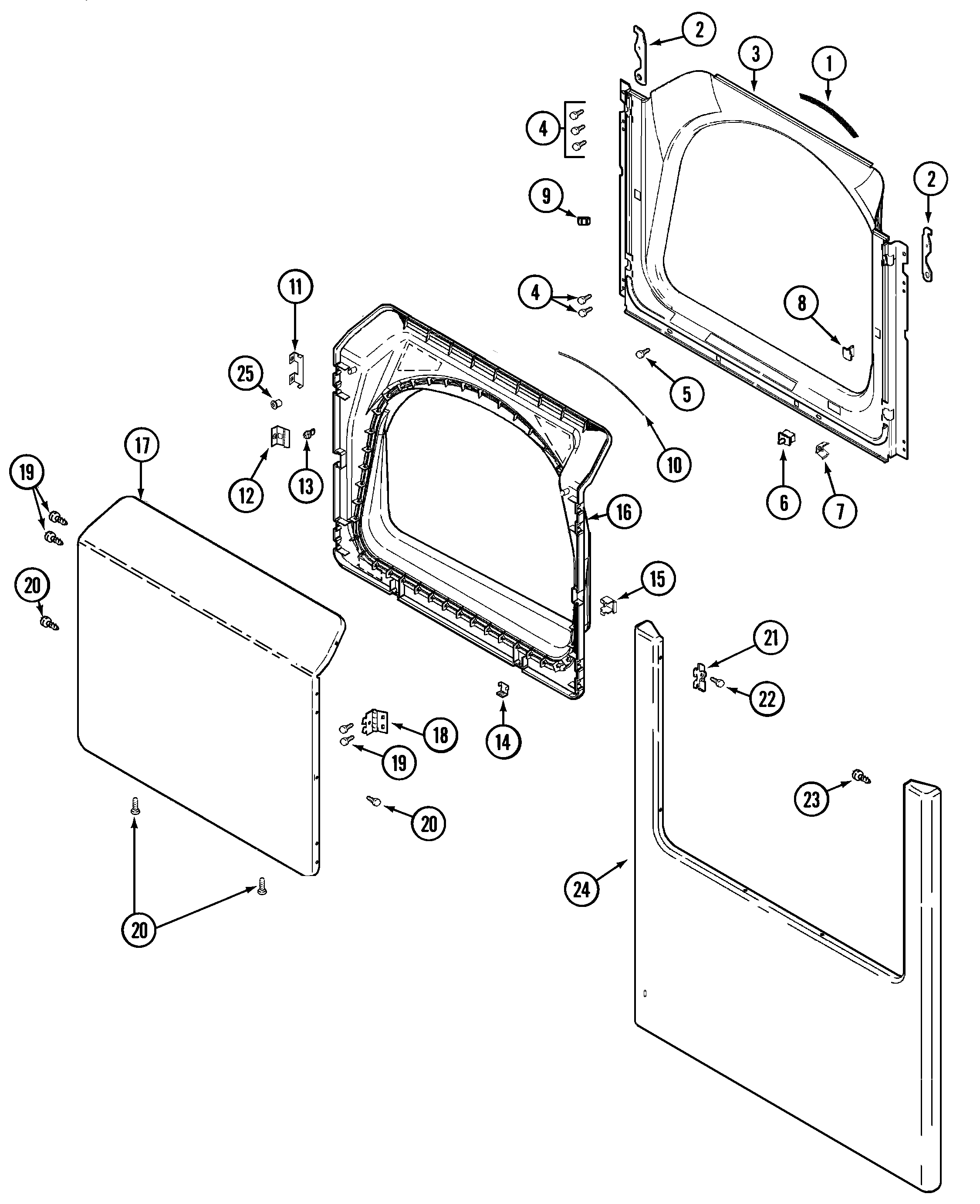 small resolution of maytag mdg5500awq door diagram