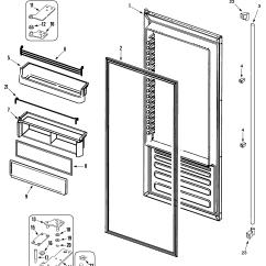 Jenn Air Refrigerator Parts Diagram Land Rover Wiring Defender Refrigeration Fresh Food Door Model