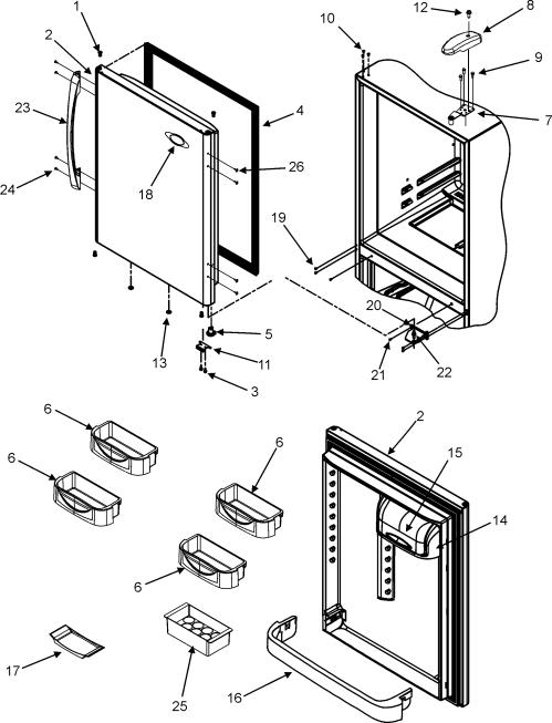 small resolution of maytag mbf2256keb refrigerator door diagram