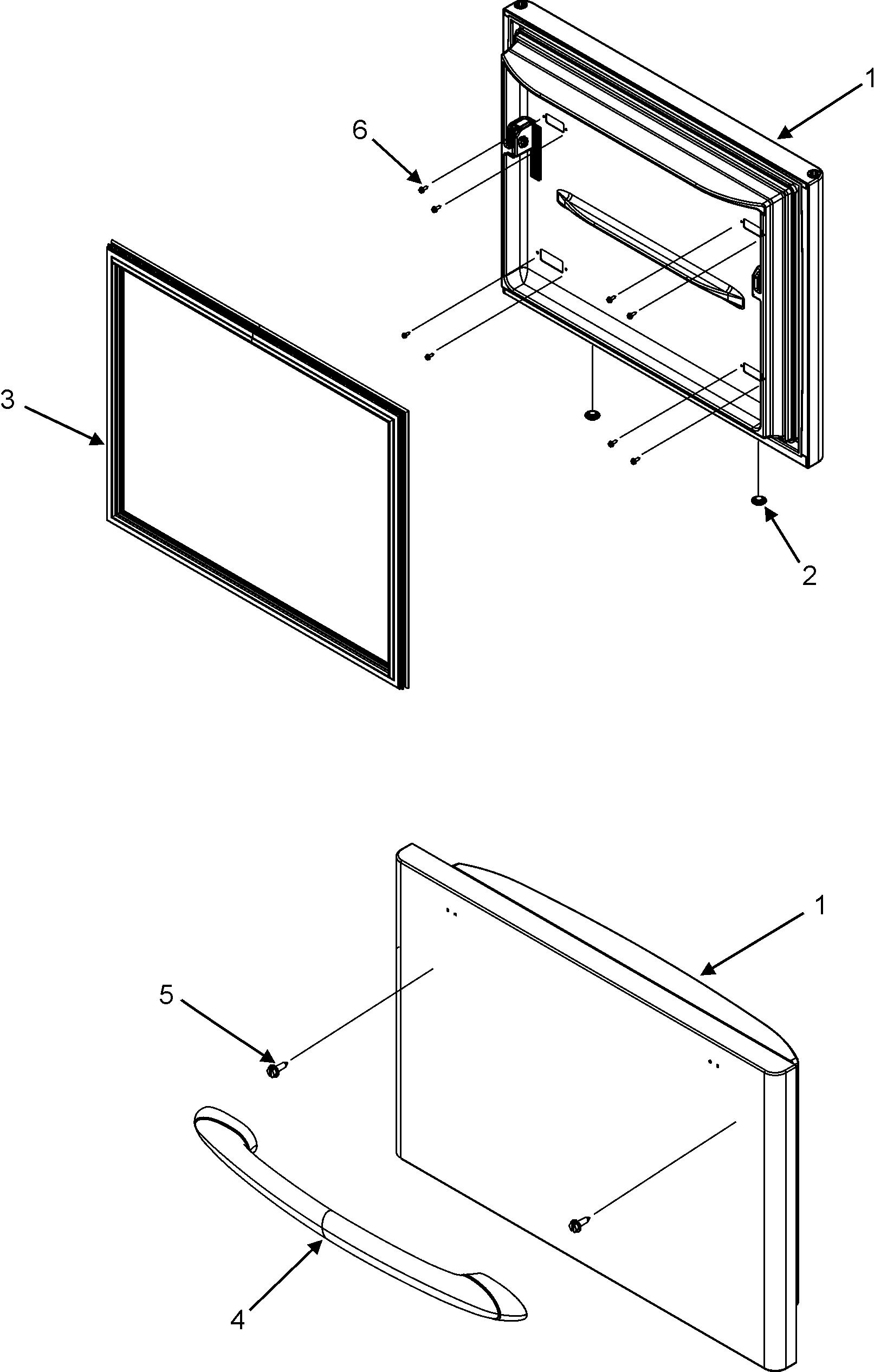 FREEZER DOOR Diagram & Parts List for Model mbf2256kew