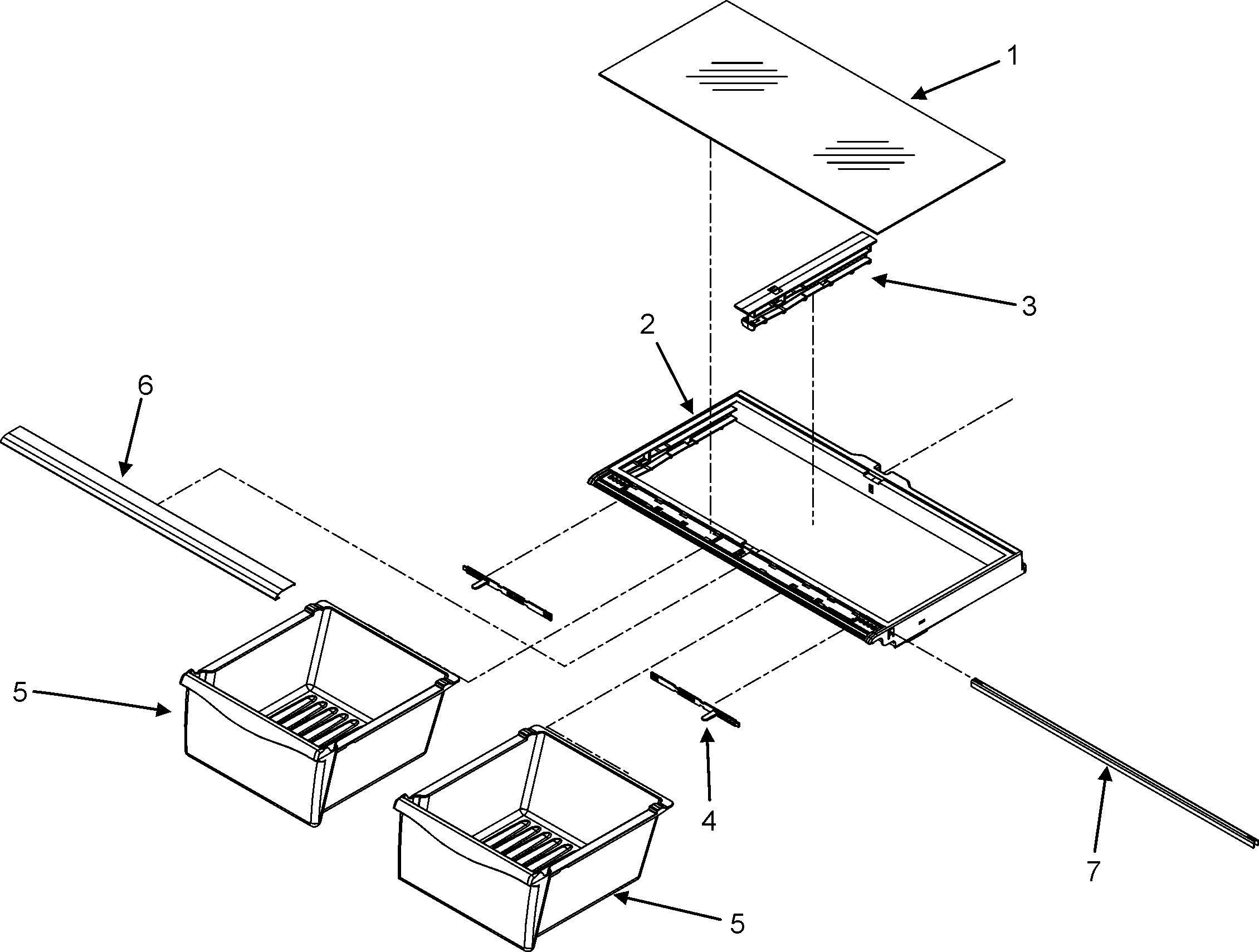 CRISPER ASSEMBLY Diagram & Parts List for Model mbf2256keq