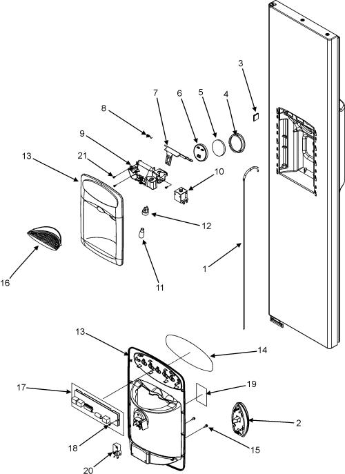 small resolution of maytag refrigeratore refrigerator maytag parts diagram parts list for model mzd2768geb maytagparts refrigerator