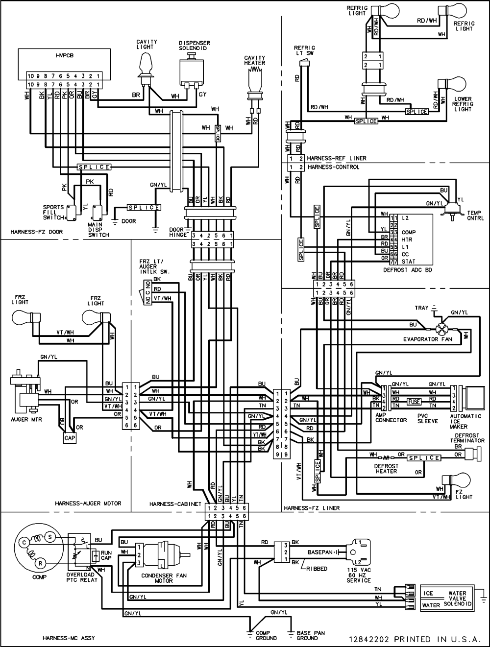 medium resolution of amana model acd2238hts side by side refrigerator genuine parts ge appliance wiring diagrams amana wiring diagram