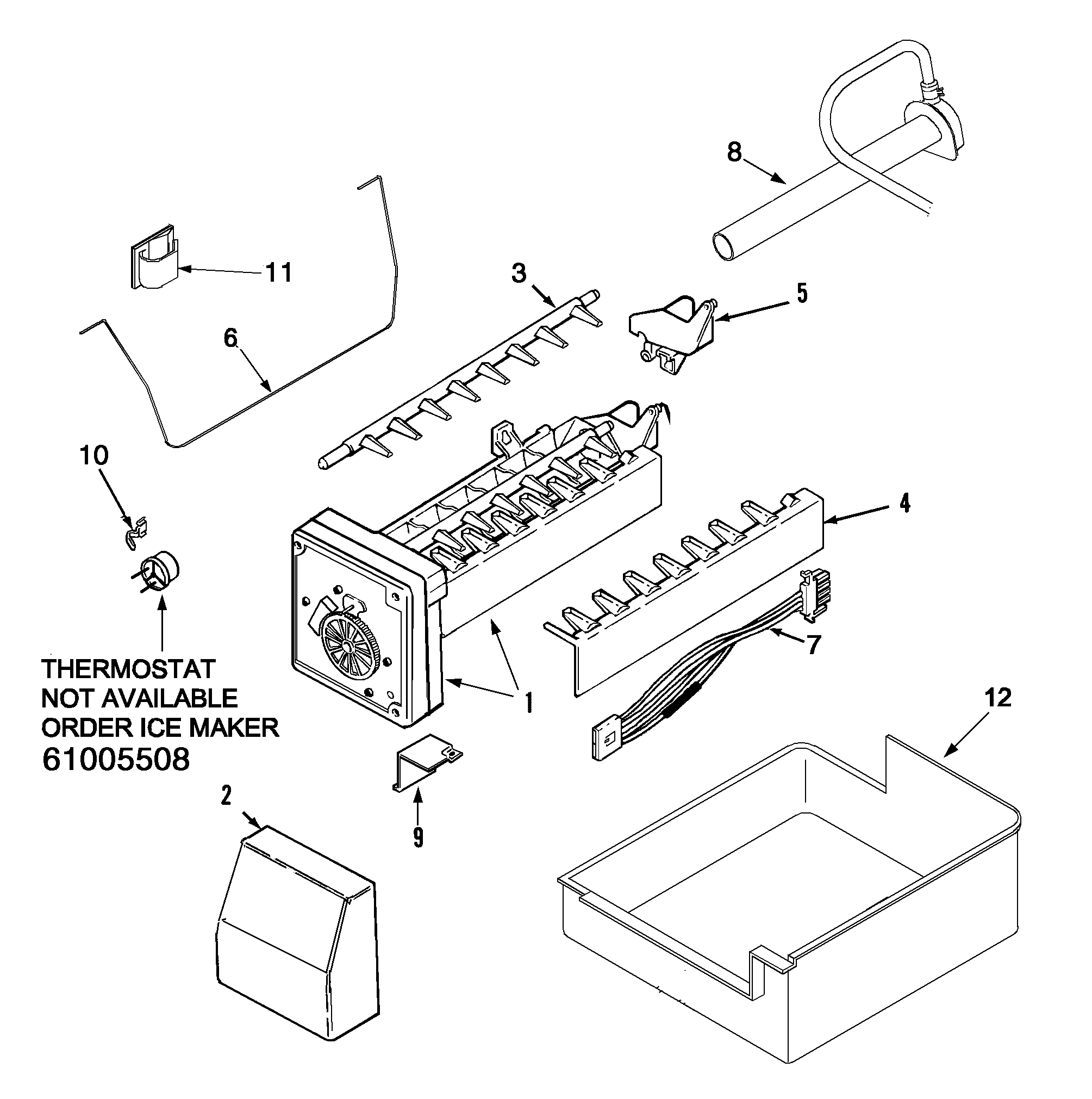 ice maker installation parts diagram and parts list for kenmore ice kenmore refrigerator ice maker schematic get free image about wiring [ 2009 x 2021 Pixel ]