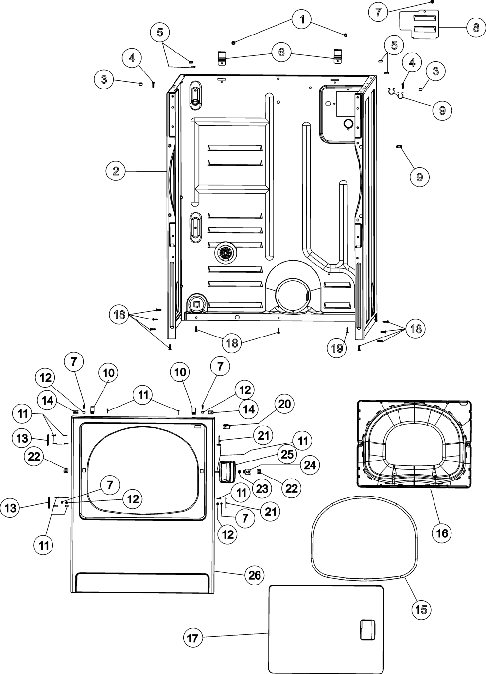medium resolution of maytag mde4658ayw cabinet front panel diagram