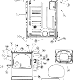 maytag mdg5806aww cabinet front panel diagram [ 3663 x 5078 Pixel ]