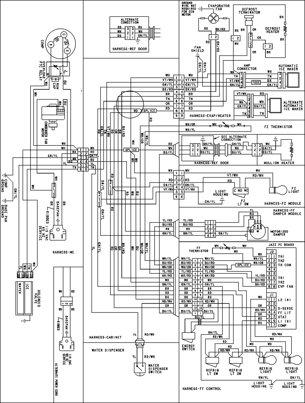 medium resolution of wire diagram for ge refrigerator model 22 25