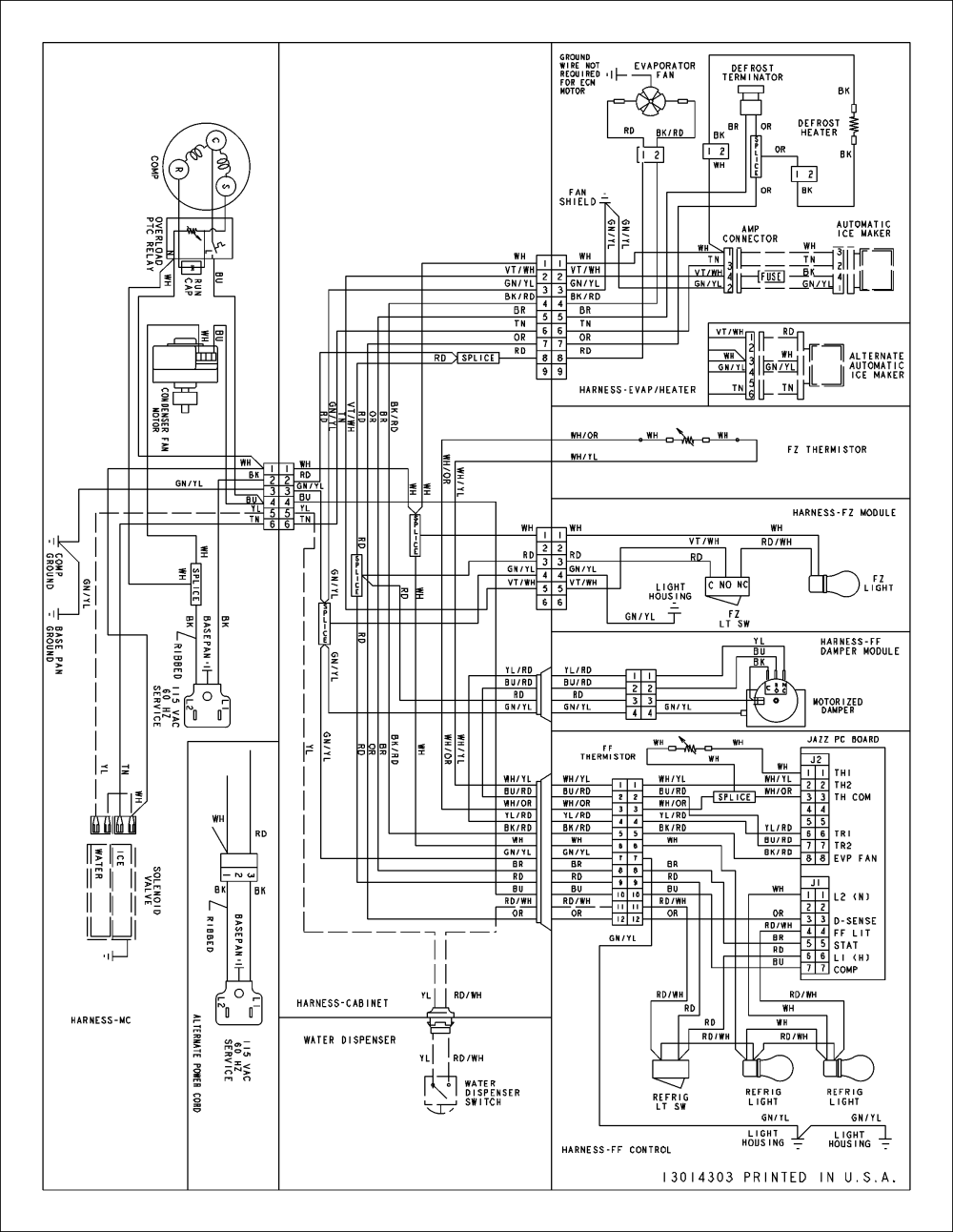 medium resolution of amana model abd2233des bottom mount refrigerator genuine parts amana refrigerator wiring diagram amana refrigerator schematics