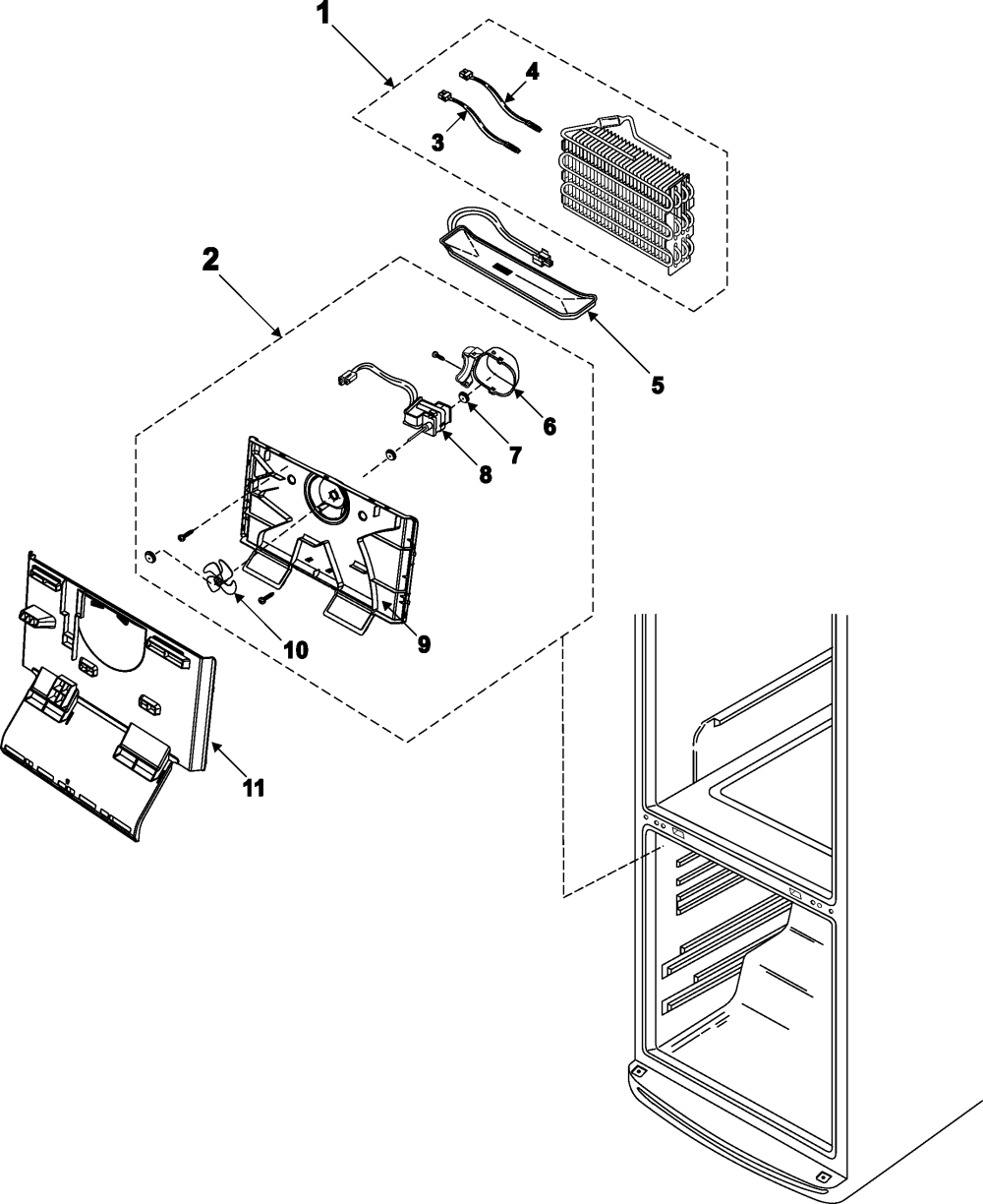 medium resolution of samsung rb195bsbb xaa 00 freezer compartment diagram