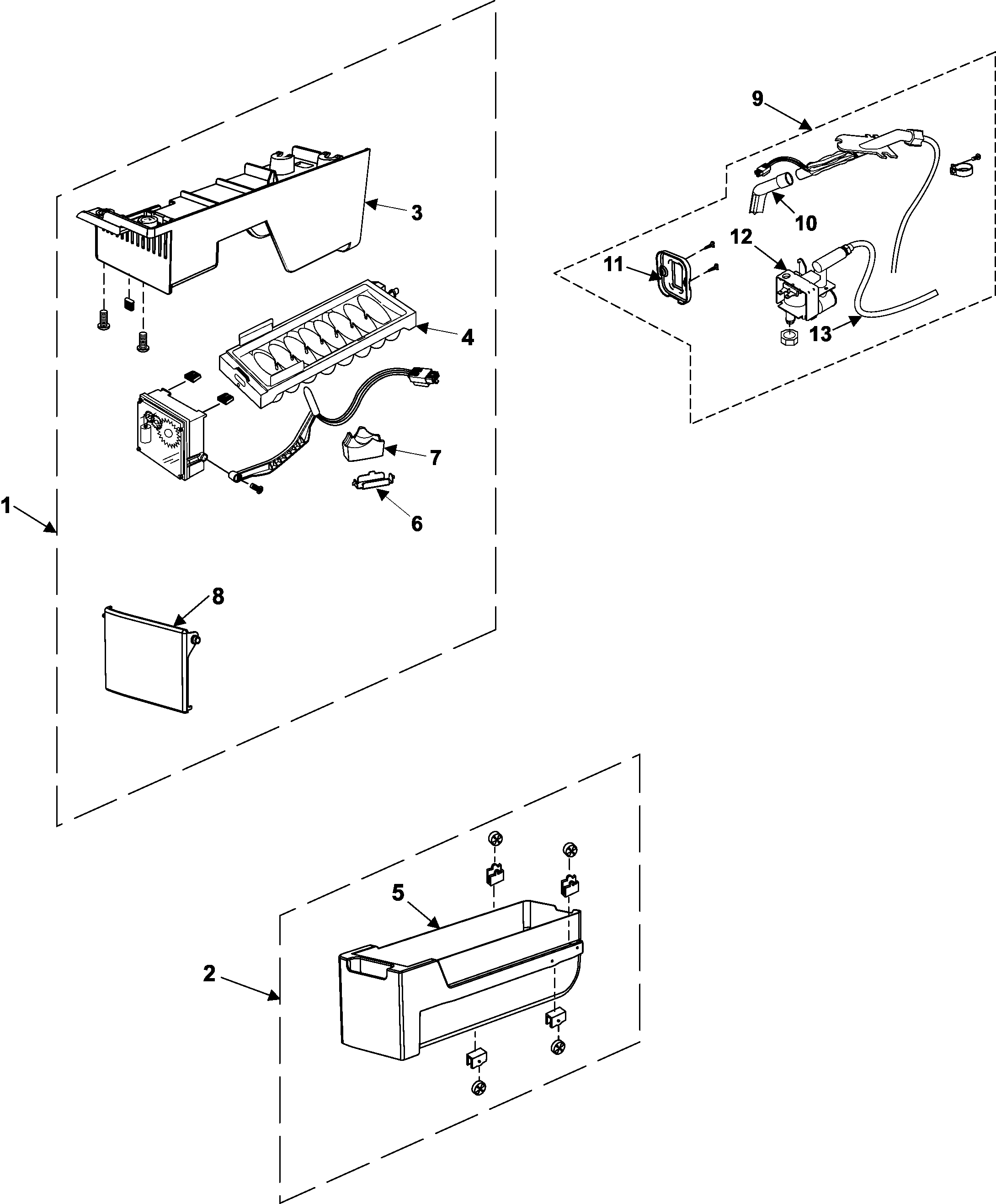 ice maker diagram animal cell labeled refrigerators parts