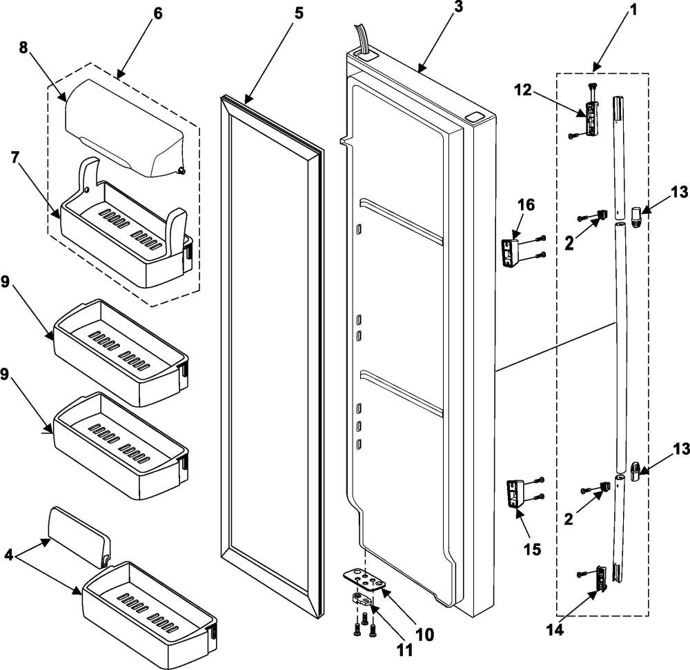 medium resolution of samsung rs253baww refrigerator wiring diagram