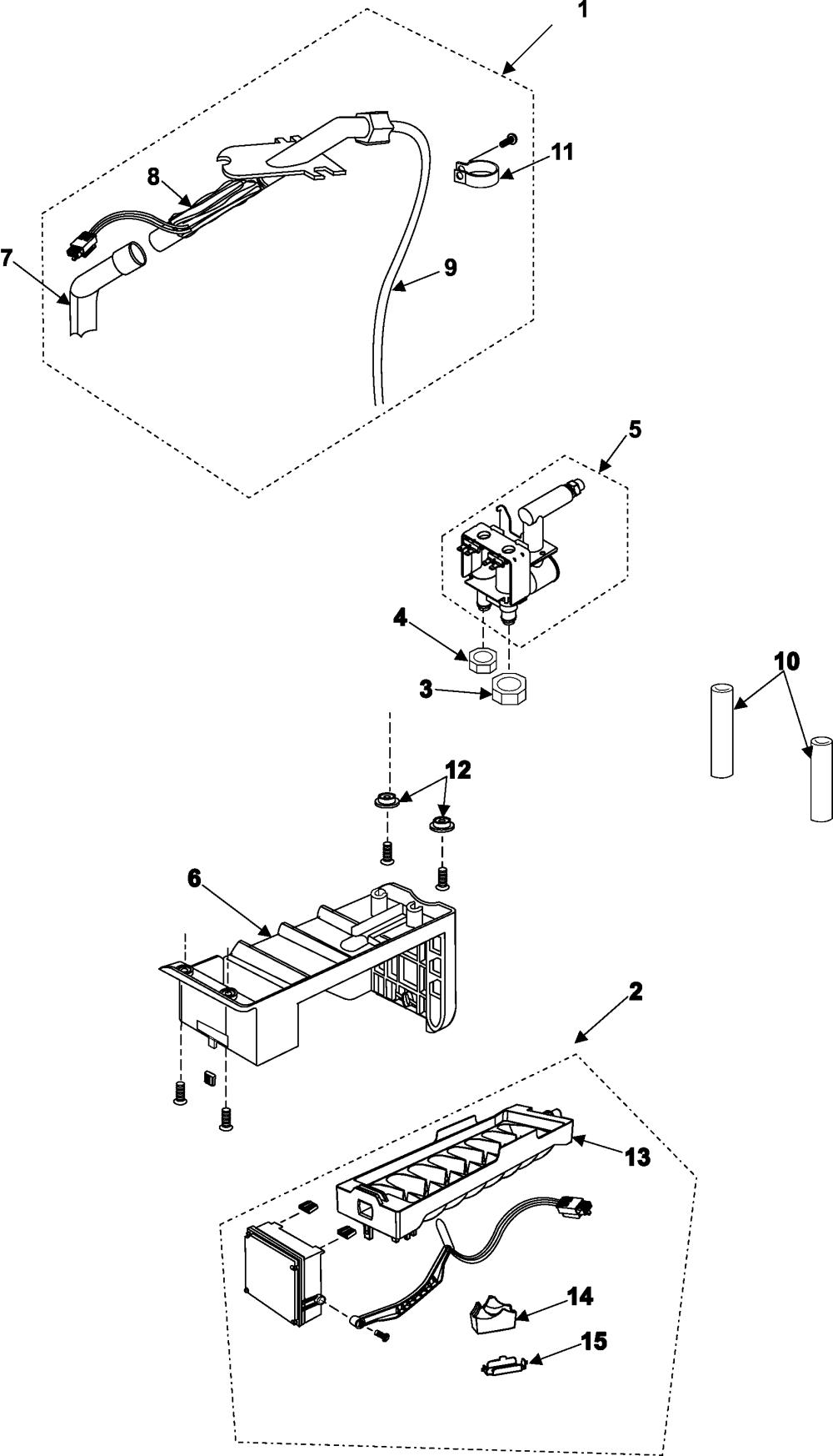medium resolution of samsung rs253baww xaa ice maker diagram