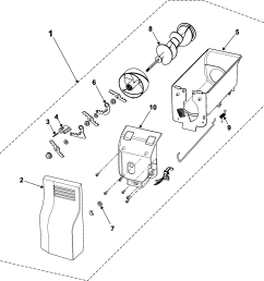 diagram frigidaire ice maker wiring looking for samsung model rs253basb xaa side by side refrigeratorfreezer compartment samsung rs253basb xaa ice bin [ 2192 x 2081 Pixel ]
