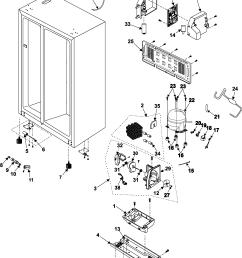 samsung rs253baww xaa machine compartment compressor diagram [ 2331 x 2950 Pixel ]