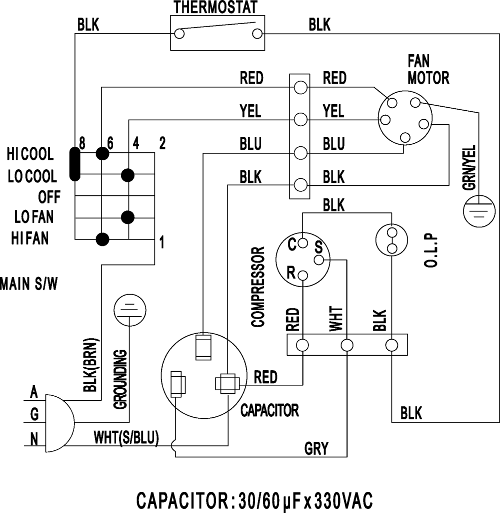 medium resolution of ac wiring size