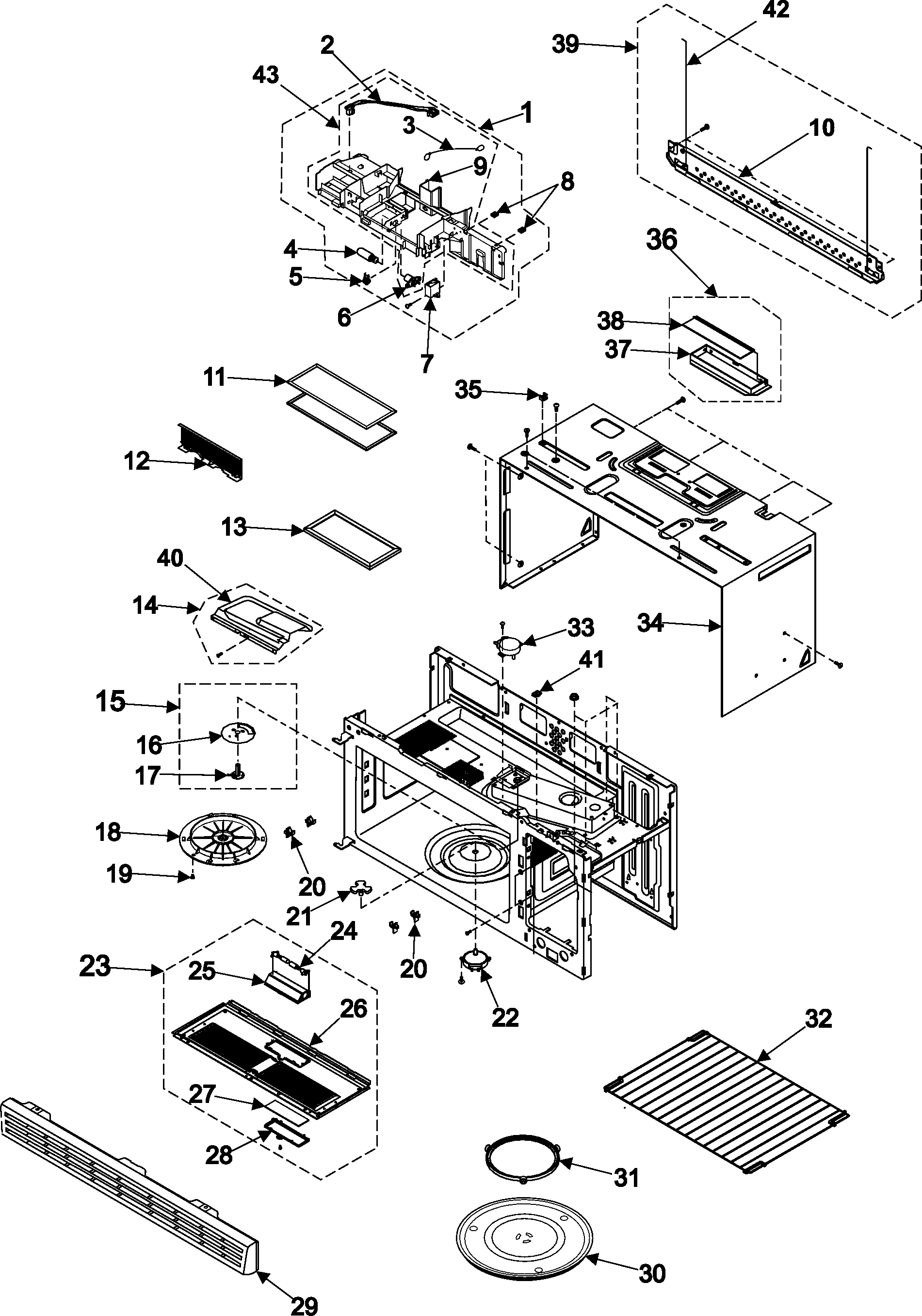 BODY/CAVITY/ELEMENTS Diagram & Parts List for Model