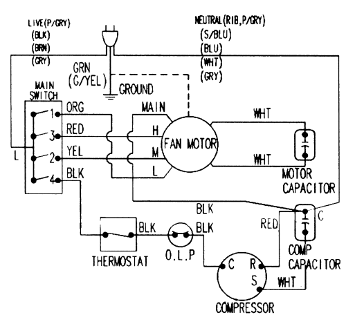 small resolution of samsung model aw1400a air conditioner room genuine parts auto air conditioner wiring diagrams samsung air conditioner