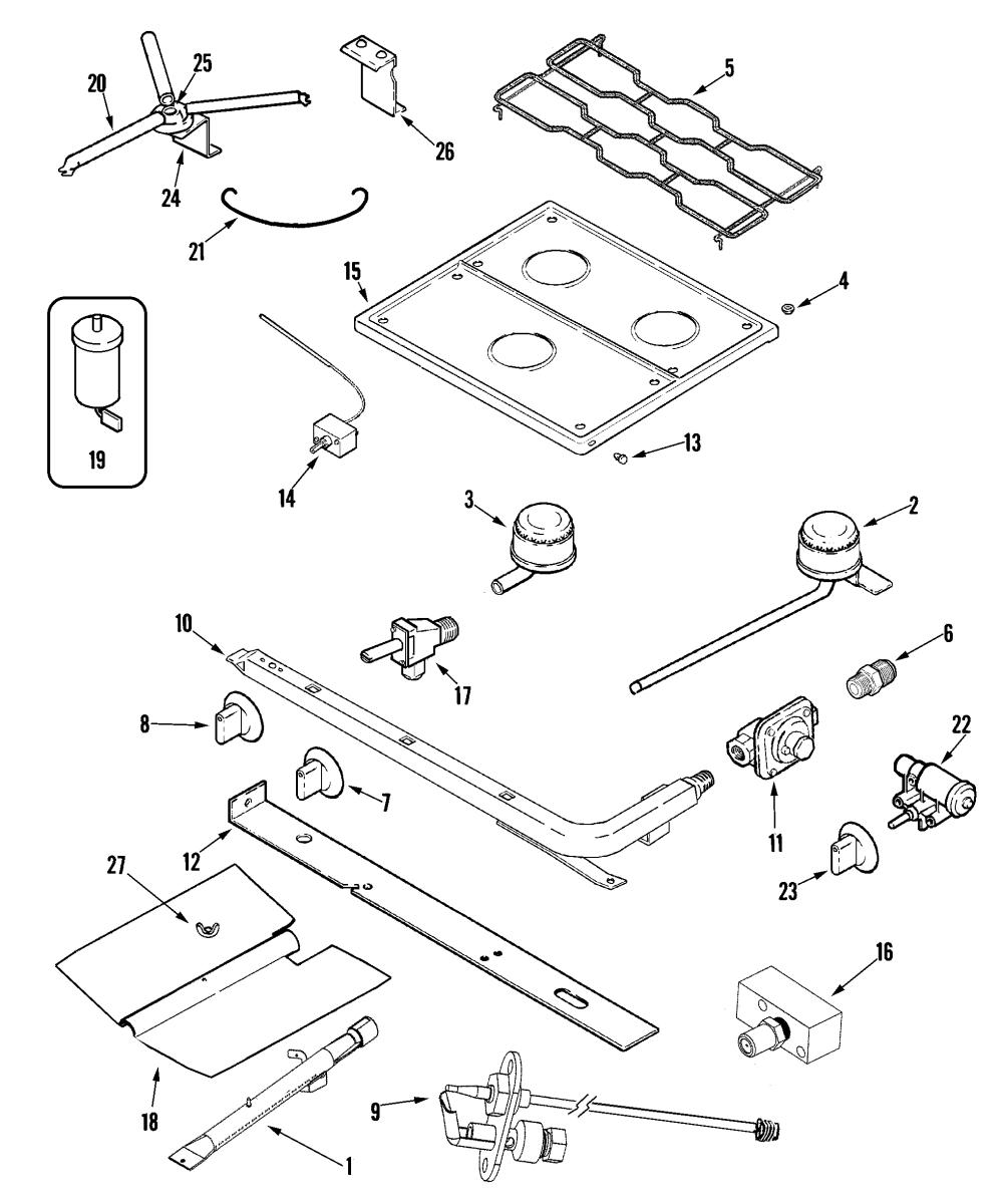 medium resolution of magic chef magic chef rv range parts model cly1620bdb sears rv stove diagram