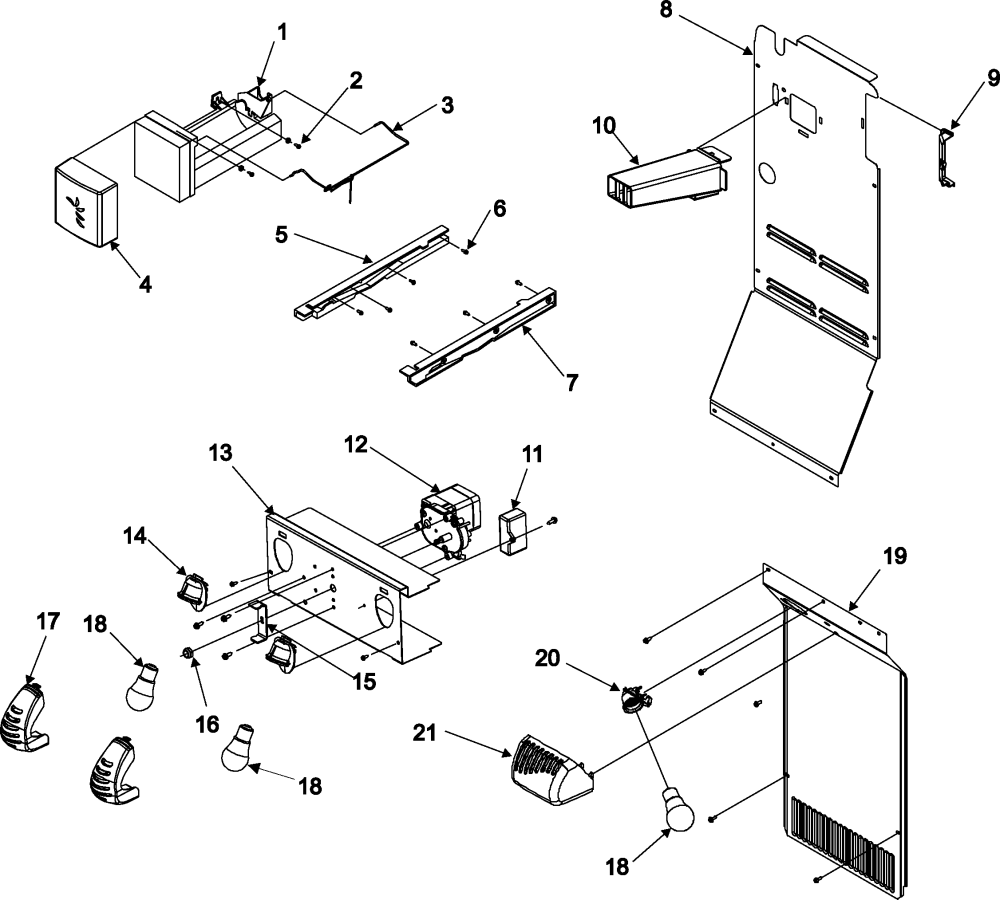 medium resolution of amana acd2234hrq lights and ice maker diagram