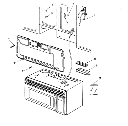 small resolution of maytag model mmv5156aab microwave hood combo genuine parts rh searspartsdirect com maytag oven wiring diagram maytag washer wiring diagram