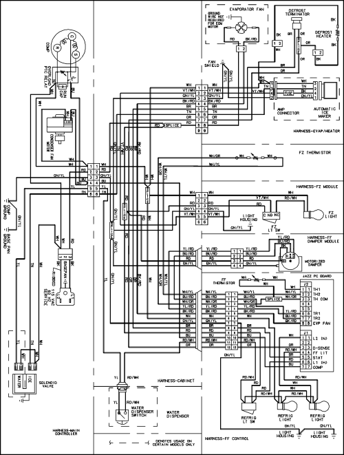 small resolution of wire diagram for ge refrigerator model 22 25