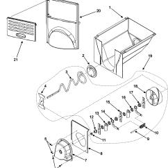 Jenn Air Refrigerator Parts Diagram Gallbladder Location Ice Bucket Assy And List For Model Jcd2295kep