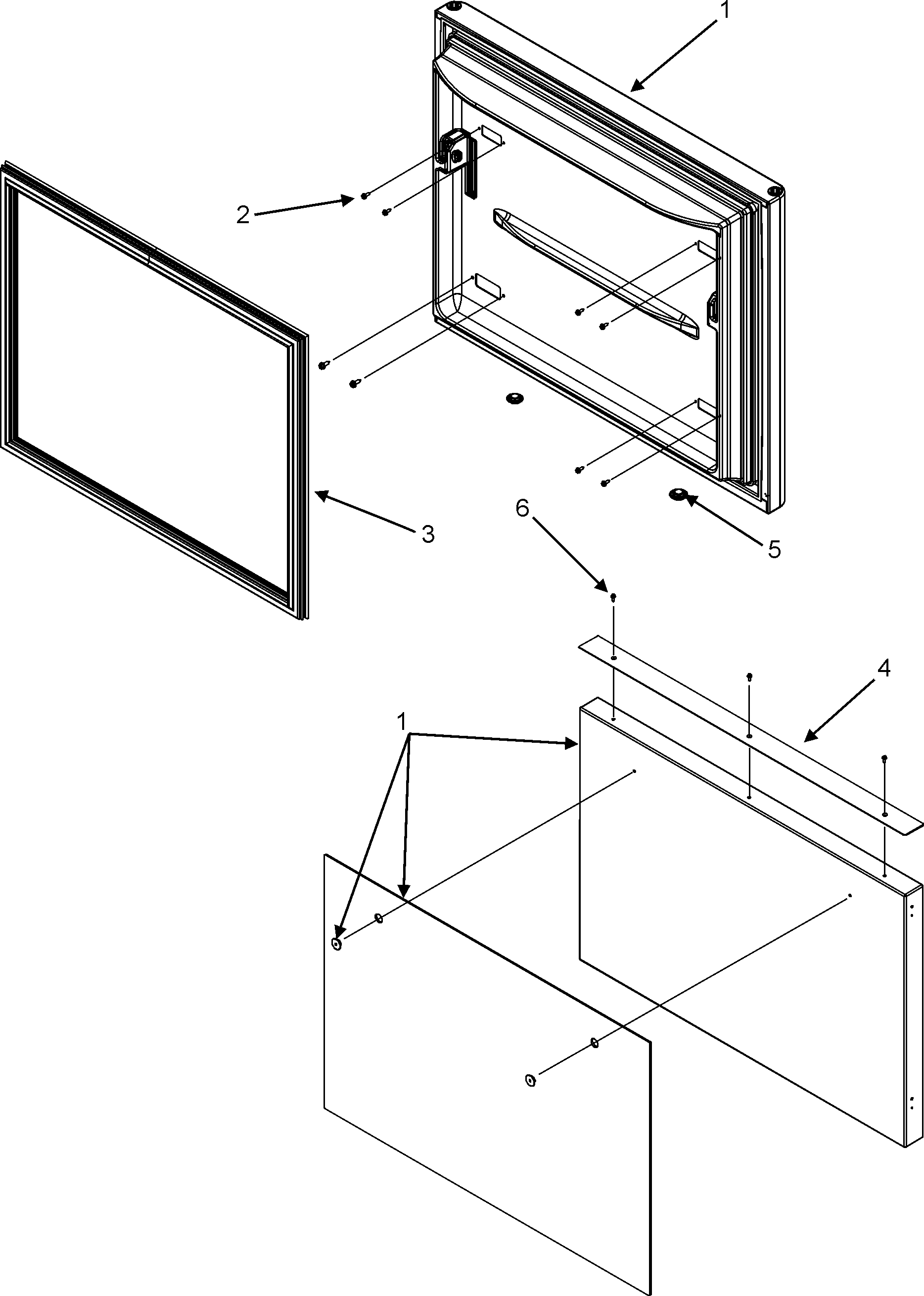 FREEZER DOOR Diagram & Parts List for Model jfc2089hpy