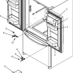 Jenn Air Refrigerator Parts Diagram 1970 John Deere 140 Wiring Refrigeration Model Jfc2089hes Sears Ref Dr Storage Center Hinges