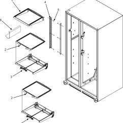 Jenn Air Refrigerator Parts Diagram Light Wiring Australia Shelves And List For Model