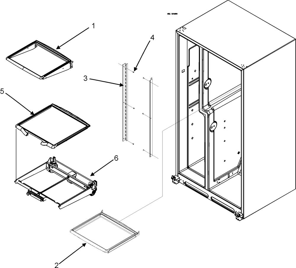 medium resolution of maytag mzd2666keb refrigerator shelves diagram