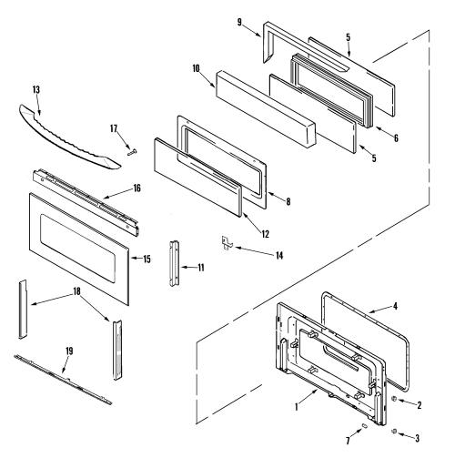 small resolution of maytag mgr6875adq door upper diagram