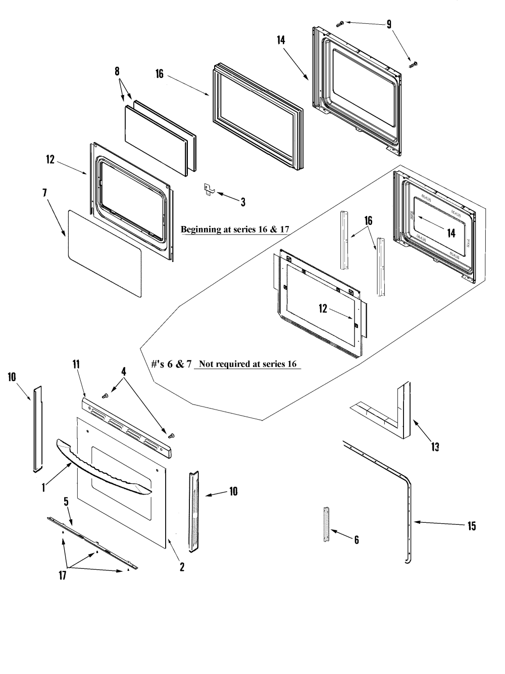 medium resolution of maytag mgr6875adb door lower diagram