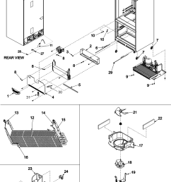 maytag mff2557heq evaporator area rollers diagram [ 2401 x 3167 Pixel ]