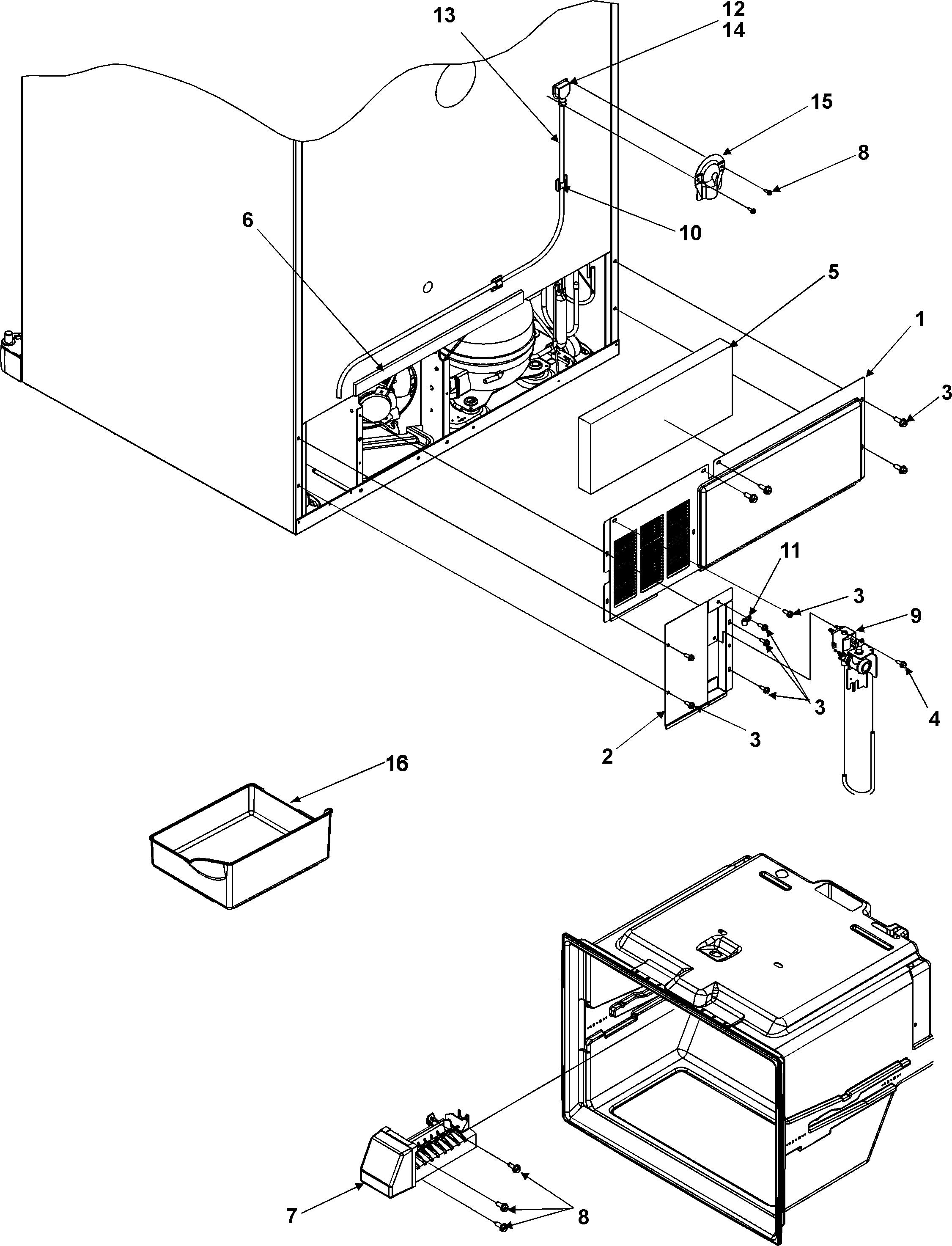 Amana Refrigerator: Amana Refrigerator Parts Diagram