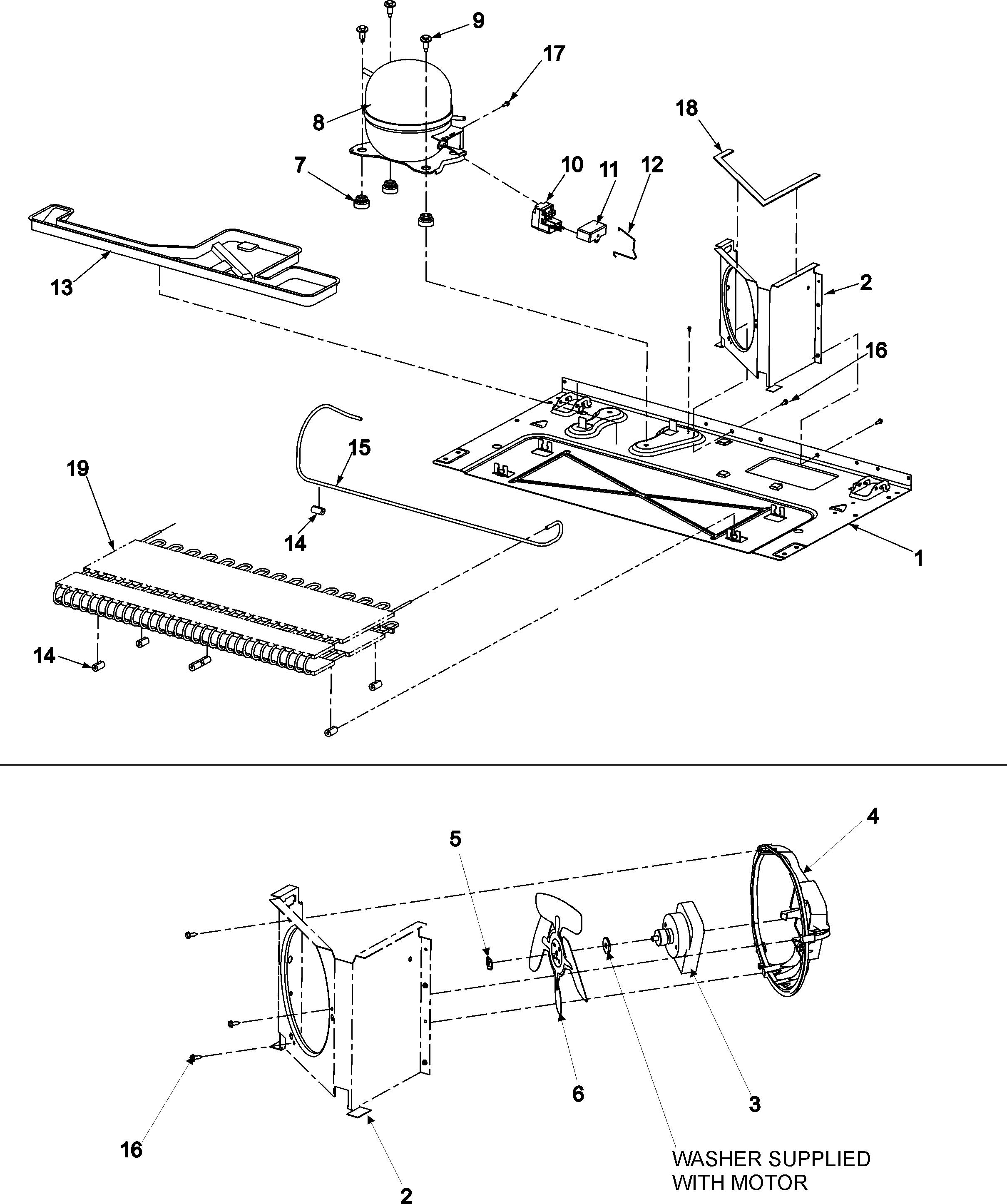 COMPRESSOR Diagram & Parts List for Model 59675523400