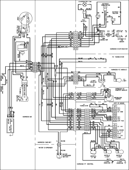 small resolution of amana wiring diagram wiring diagram b31amana model abc2037des bottom mount refrigerator genuine parts westinghouse wiring diagrams