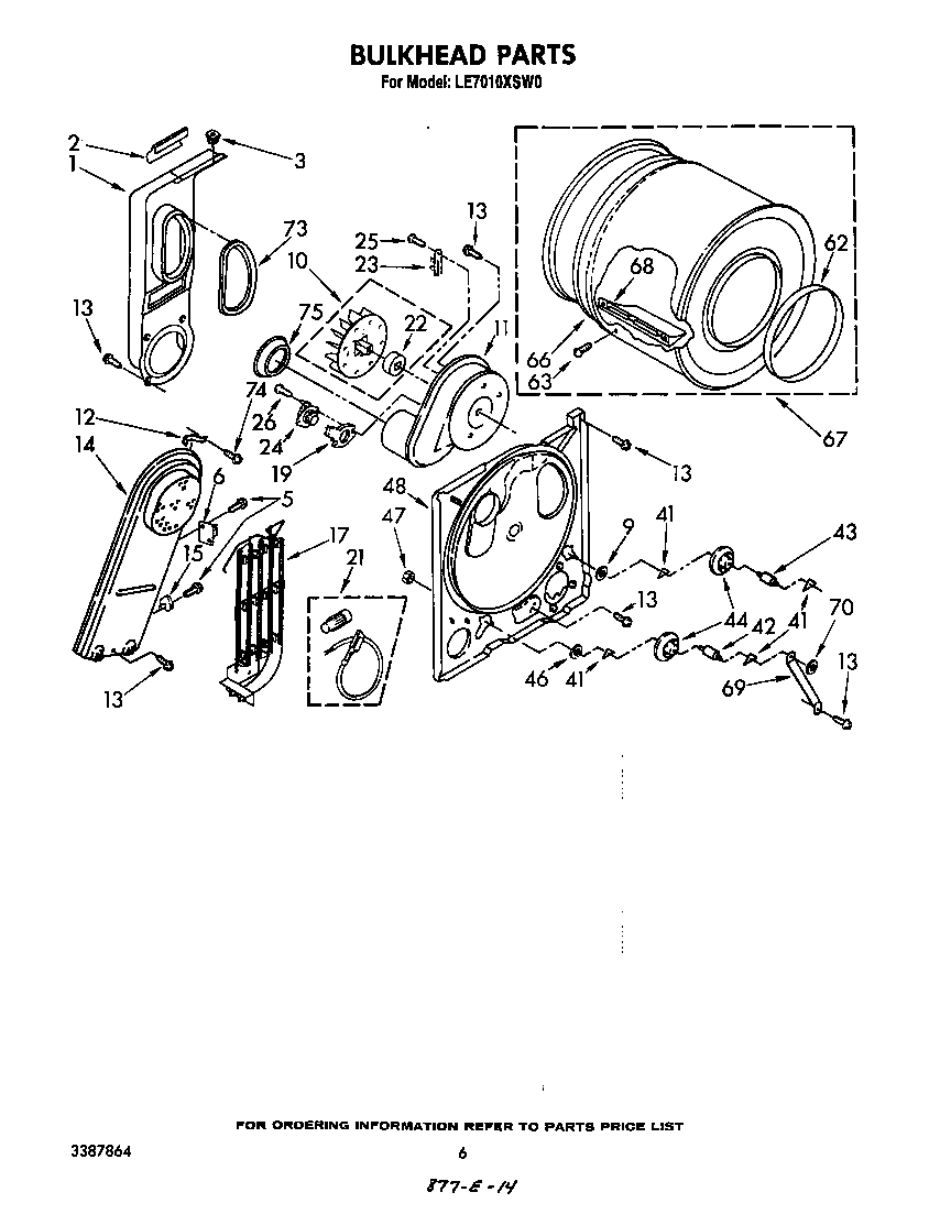 Diagram & Parts List for Model le7010xsw0 Whirlpool-Parts