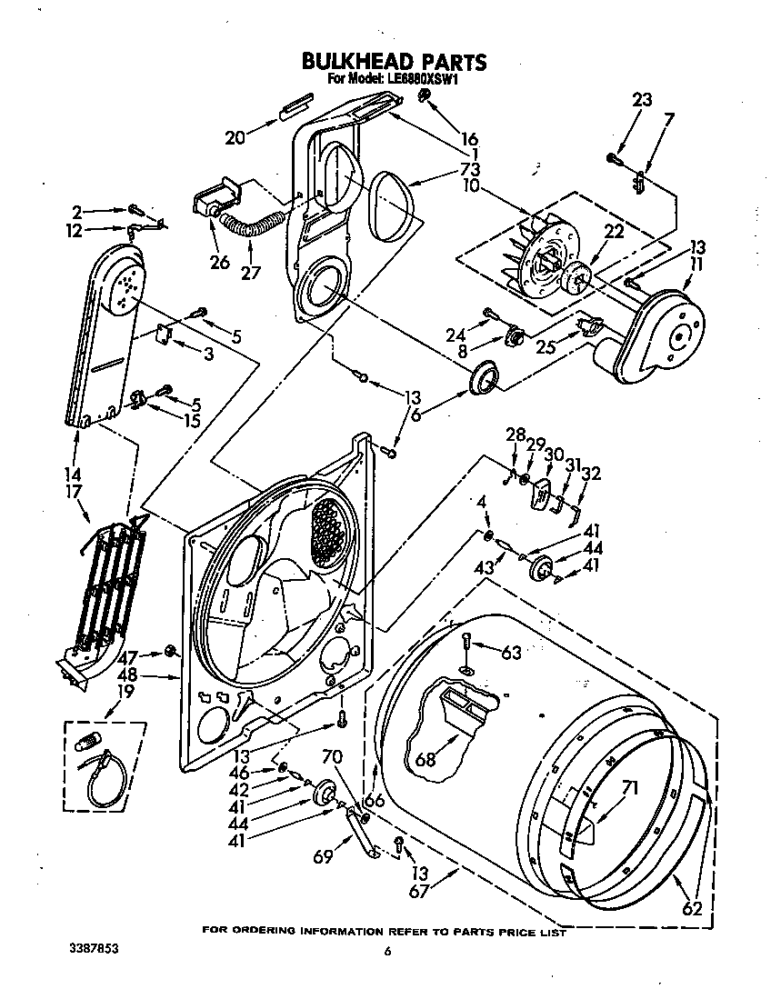 Diagram & Parts List for Model le6880xsw1 Whirlpool-Parts