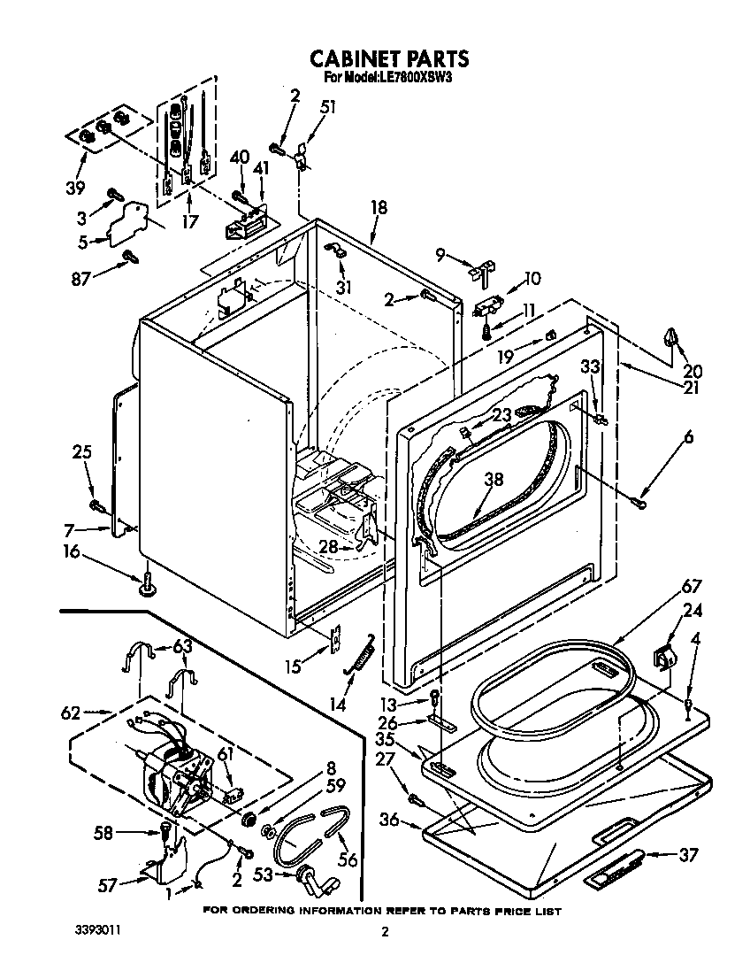 diagram parts list for model lgr4634dqo whirlpoolparts dryerparts