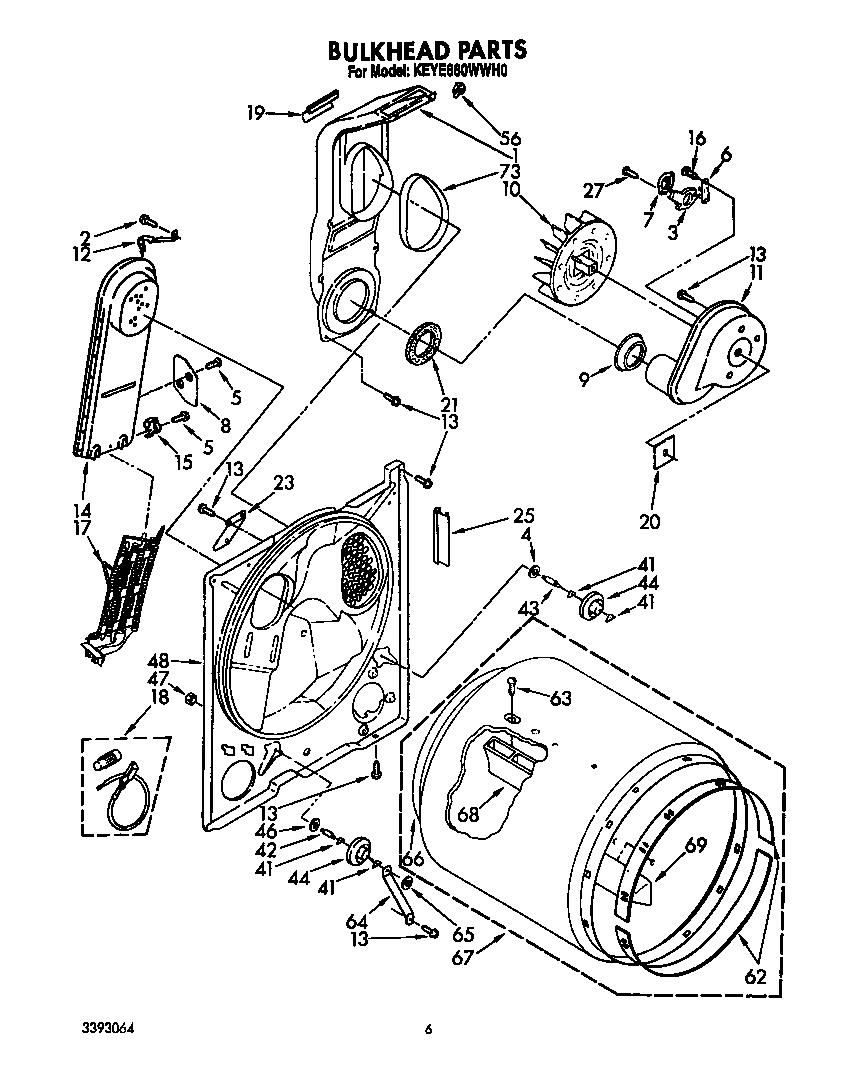 Diagram & Parts List for Model keye660wwh0 Kitchenaid