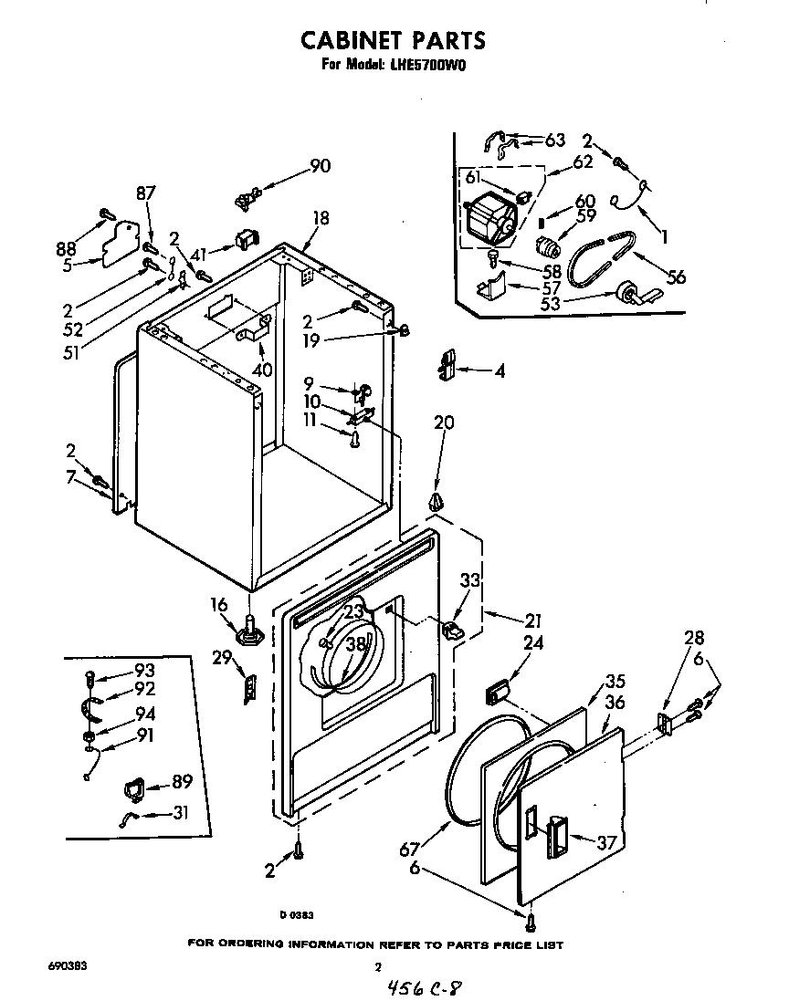 Diagram & Parts List for Model lhe5700w0 Whirlpool-Parts