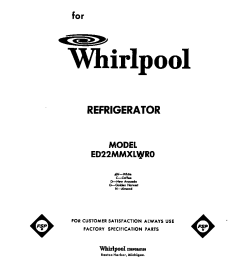 looking for whirlpool model ed22mmxlwr0 side by side refrigerator repair replacement parts  [ 864 x 1099 Pixel ]