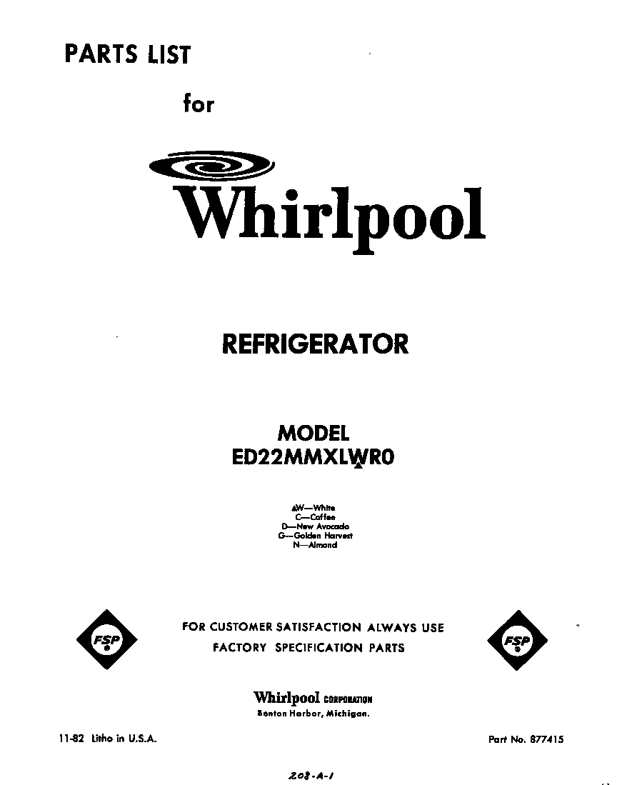 medium resolution of looking for whirlpool model ed22mmxlwr0 side by side refrigerator repair replacement parts