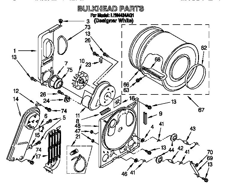 BULKHEAD Diagram & Parts List for Model ler4434aq1