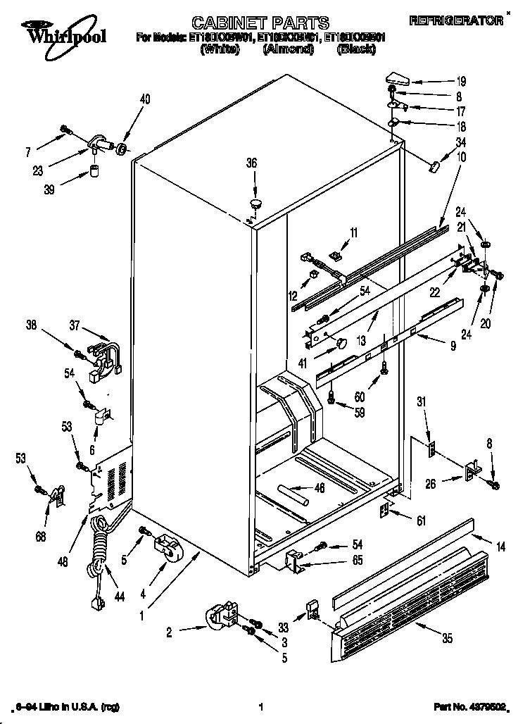 Wiring Diagram: 29 Whirlpool Refrigerator Parts Diagram