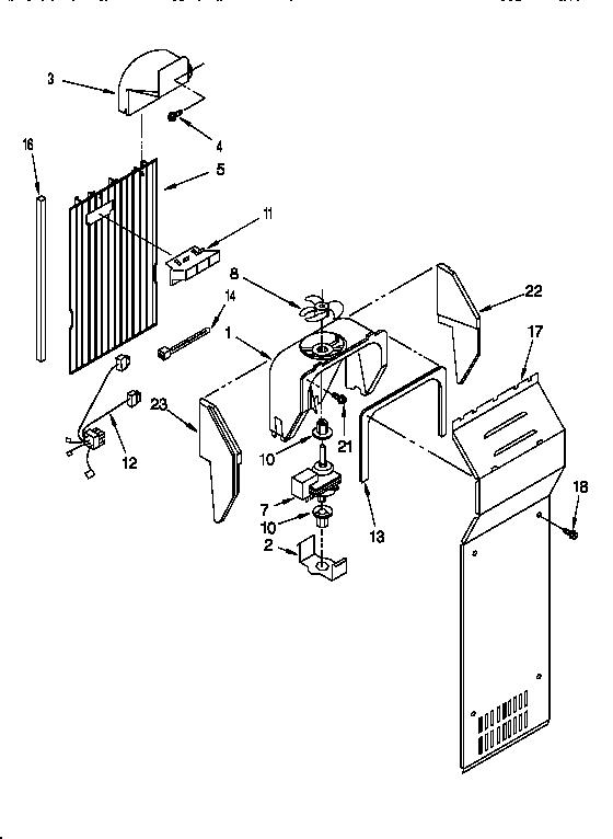 AIR FLOW Diagram & Parts List for Model ED25PWXBN00