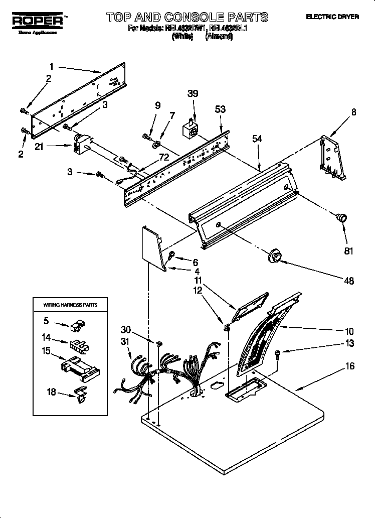 wire diagram for a dryer