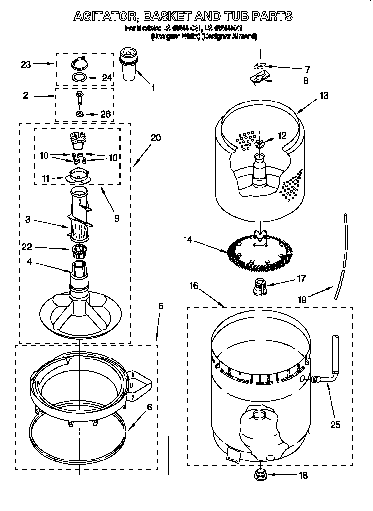 Wiring Diagram Whirlpool Washing Machine Lsq9110pw1 : 51
